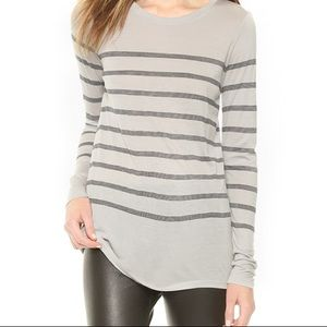 VINCE. striped long sleeve tee medium